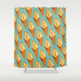 Ice Cream Pattern - Vanilla Shower Curtain