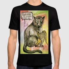 Sad Monkey Mens Fitted Tee Black SMALL