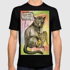 Sad Monkey Black Mens Fitted Tee MEDIUM