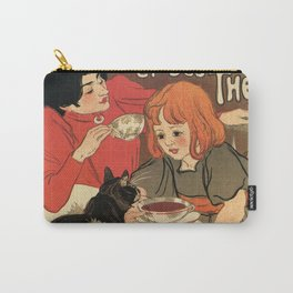 Vintage French tea and hot cocoa advertising Carry-All Pouch