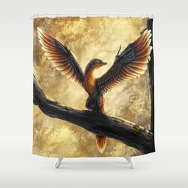 Archaeopteryx Lithographica Commission Shower Curtain