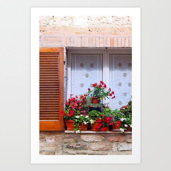 Assisi: Flowers Art Print
