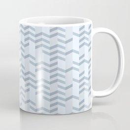 Blue Chevron Cuts Coffee Mug