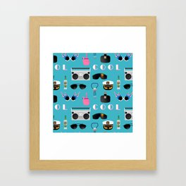 COOL Pattern Framed Art Print