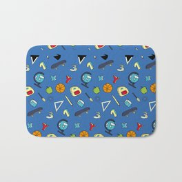 Colorful school pattern Bath Mat