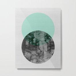 Geometric and minimalist watercolor Metal Print