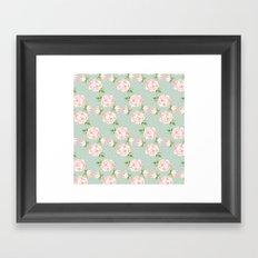 Vintage Roses Pattern Framed Art Print