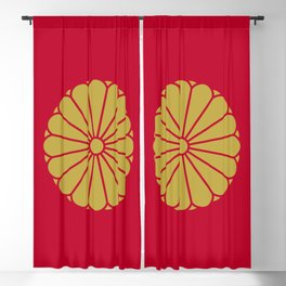 Imperial Standard of the Emperor of Japan Blackout Curtain