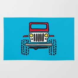 Jeep 'drawing' RED Rug