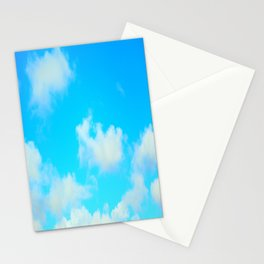 White Clouds Bright Blue Sky Stationery Cards