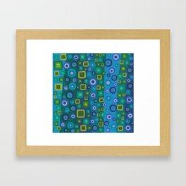 Squares and circles Framed Art Print