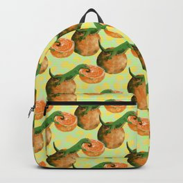gecko orange Backpack
