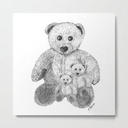 Three little bears Metal Print