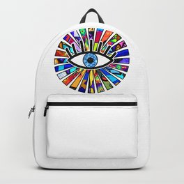 Greek Evil Eye Graffiti Sun Rays Backpack