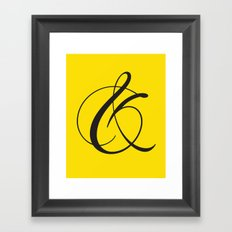 Ampersand 1 Framed Art Print