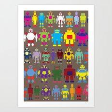 Robot Army Art Print
