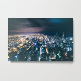 Chicago Gridlock Metal Print