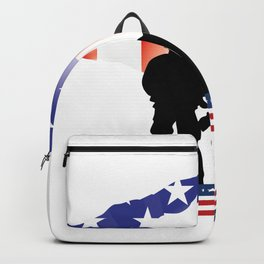 Soldier Patriotic American Flag Memorial Day Gift Backpack
