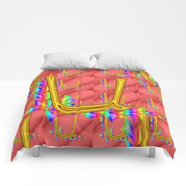 U - pattern 1 Comforters