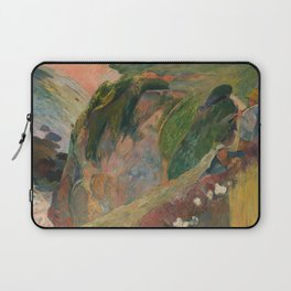 The Flageolet Player on the Cliff, Paul Paul Gauguin Laptop Sleeve