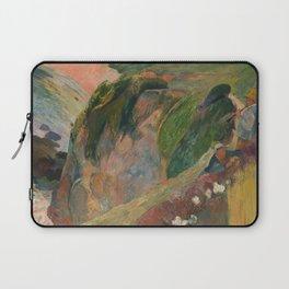 The Flageolet Player on the Cliff, Paul Paul Gauguin Laptop Sleeve