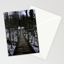 Suspension Bridge Along The Waldskulpturenweg Stationery Cards