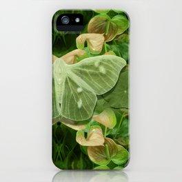 Green Glow Butterfly iPhone Case