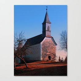 The village church of Hollerberg II   architectural photography Canvas Print