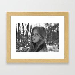 White & Black Framed Art Print