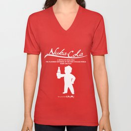 Nuka Cola Warm and Flat Unisex V-Neck