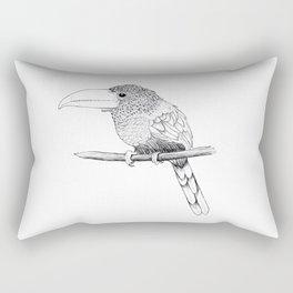 Curl-crested Aracari Rectangular Pillow