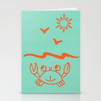 crab Stationery Cards featuring crab by gzm_guvenc
