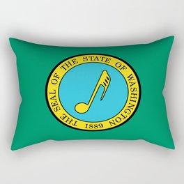 Musical Flag of Washington State Rectangular Pillow