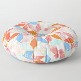 Pastel Marble Mosaic  Floor Pillow