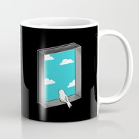 ilovedoodle Mugs featuring Every book a window by I Love Doodle