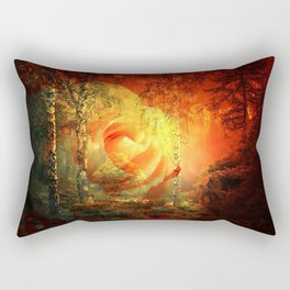 Rose At Fire Lake By Annie Zeno Rectangular Pillow