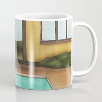 pool Mugs featuring Pool by Theodore Parks