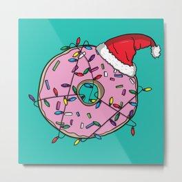 Santa Donut Metal Print