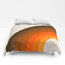 Retro Golden Rainbow - Left Side Comforters
