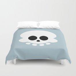 Skully light blue version Duvet Cover