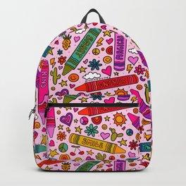Crayon Print Backpack