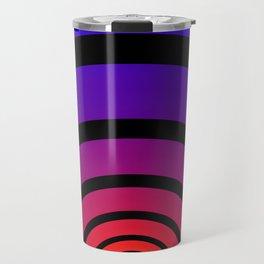 Blue, Red, and Yellow Circles Travel Mug