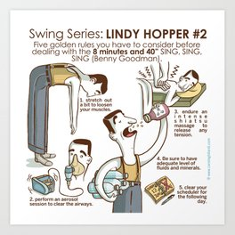 SWING SERIES: LINDY HOPPER #2 Art Print