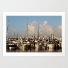 Marina I: Dreamboats Art Print