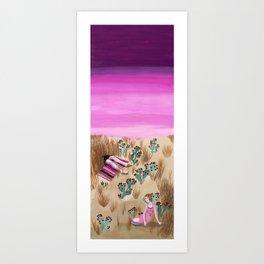 Desert Picnic Art Print