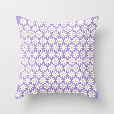 Lilac daisies Throw Pillow