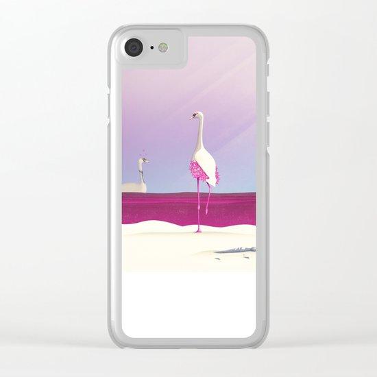 Flamingo Fatale Clear iPhone Case