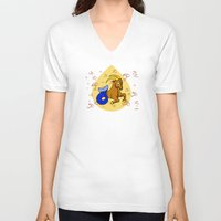 capricorn V-neck T-shirts featuring Capricorn by Giuseppe Lentini