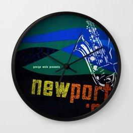 1962 Newport Jazz Festival Vintage Advertisement Poster Newport, Rhode Island Wall Clock