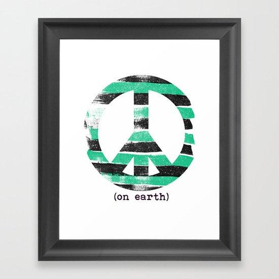 peace 2 Framed Art Print